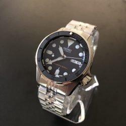 SKX013 matte black ceramic insert